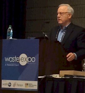 Harvey Gershman speaking at WasteExpo 2014