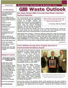 GBB Waste Outlook Newsletter - Summer 2013