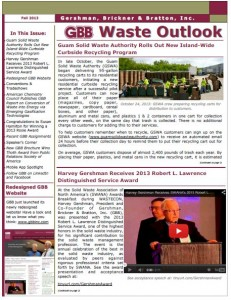 GBB Waste Outlook Newsletter - Fall 2013 - Winter 2014