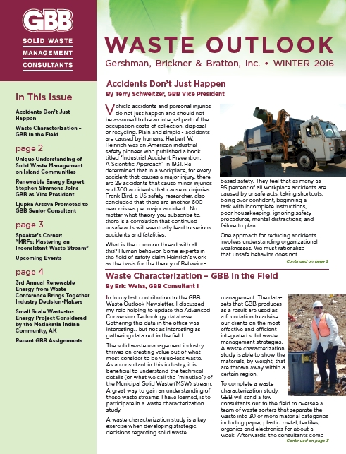 GBB Waste Outlook Newsletter