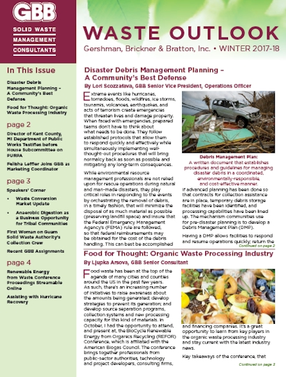 GBB Waste Outlook - Winter-2017-18
