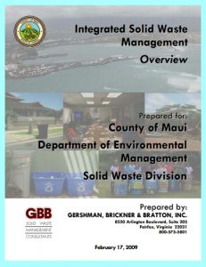 Maui County, HI - Integrated Solid Waste Management Plan