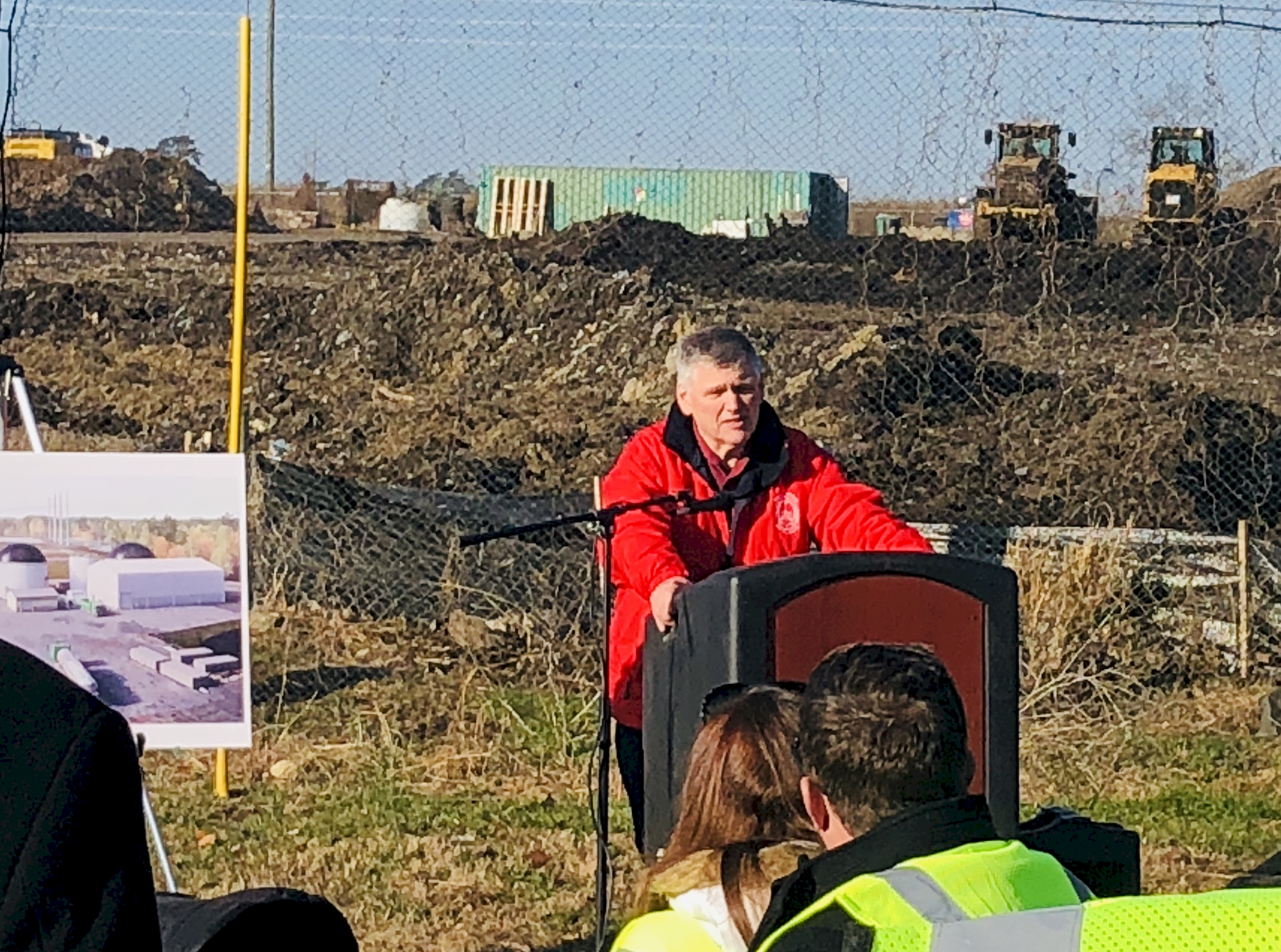 Thomas Smith, Prince William County Solid Waste Division Chief, addresses attendees of the groundbreaking ceremony.