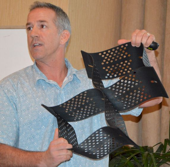 Chris Lund, PE, presenting at the Society of American Military Engineers – Guam Post Meeting.