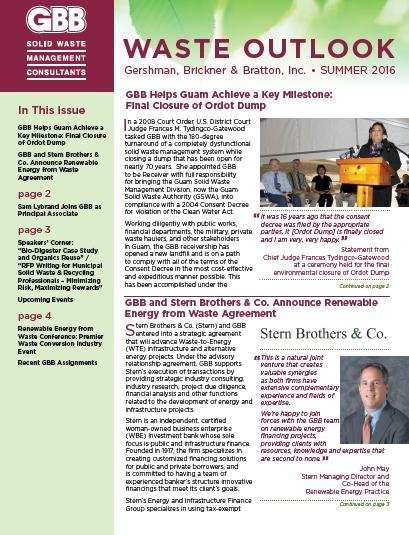 GBB Waste Outlook Newsletter
