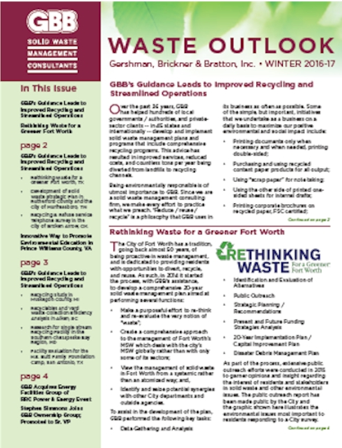 GBB Waste Outlook - Winter 2016-2017