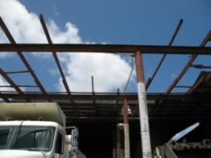 Guam maintenance facility without roof