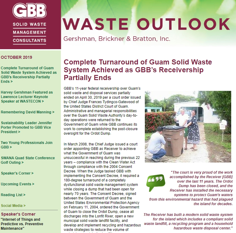 GBB Waste Outlook - October 2019