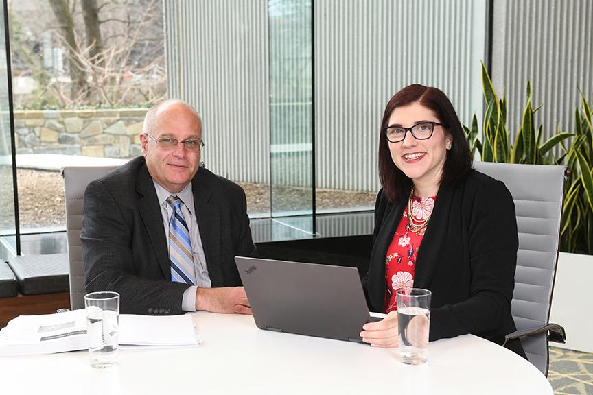 GBB Project Manager Kate Vasquez with Tom Reardon, GBB Senior Vice President.