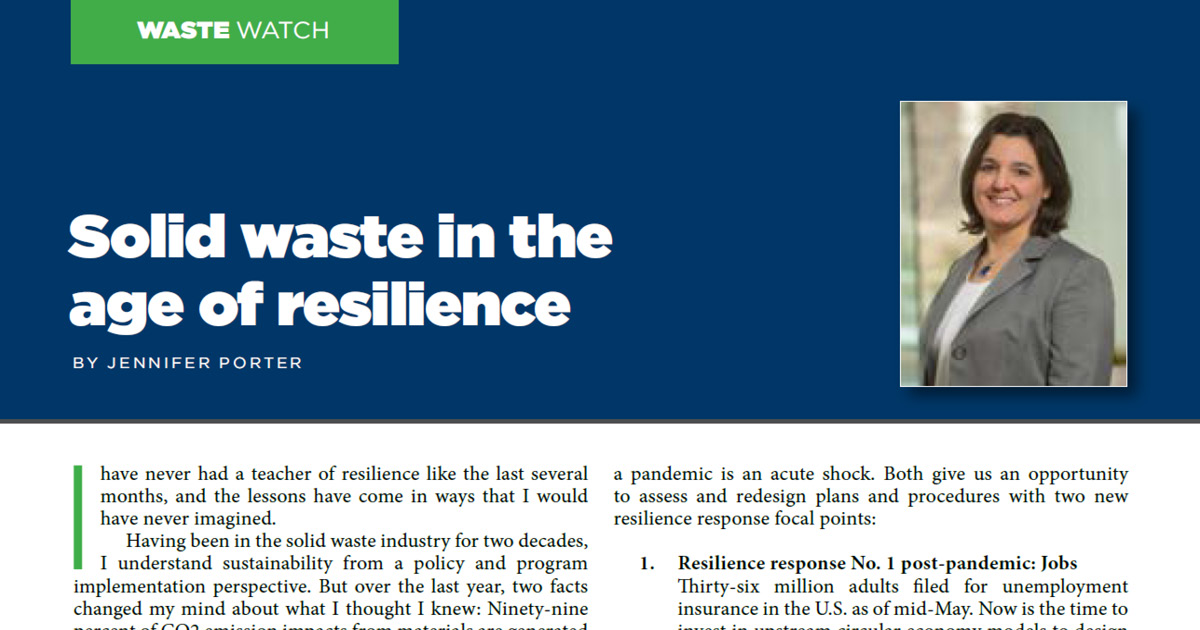 Solid Waste in the Age of Resilience